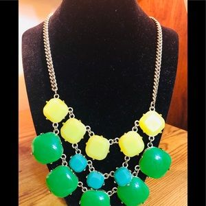 Green and yellow necklace,